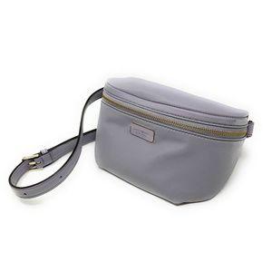 Kate Spade Dawn Place Belt Bag Fanny Pack Sling Nylon w Leather $178 Black New